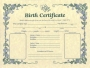 Birth Certificate Decorative